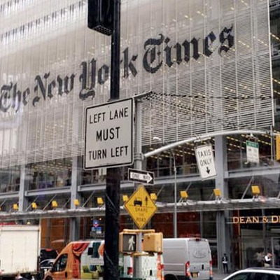 Exterior of the New York Times building